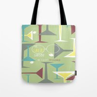 gatsby Tote Bags featuring Gatsby by Jennifer Epstein