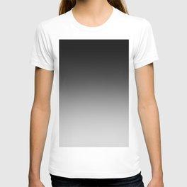 Black to Gray Horizontal Linear Gradient T-shirt