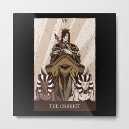 The Chariot Tarot Card Design Metal Print