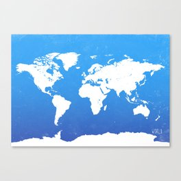 World map I world Canvas Print