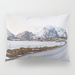 The road in the mountains Pillow Sham