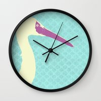 crane Wall Clocks featuring Crane by Cole Lindsey Blotcky
