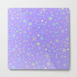 Blossoms & Berries - Colors: Candyland Metal Print
