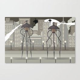 science fiction alien giant tripod Canvas Print
