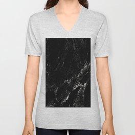 Black Marble #6 #decor #art #society6 Unisex V-Neck