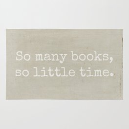 So Many Books Rug