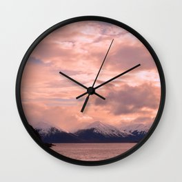 Rose Quartz Over Hope Valley Wall Clock