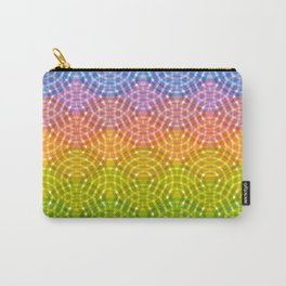 Bright colorful seamless pattern. Rainbow bright lilac pink green purple blue print Carry-All Pouch