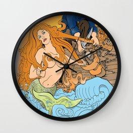 The Entangled Mermaid Wall Clock