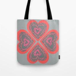 4 Love hearts Tote Bag