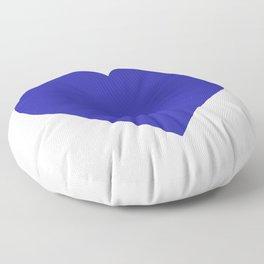 Heart (Navy Blue & White) Floor Pillow