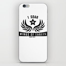 I Soar On Wings Of Eagles iPhone Skin