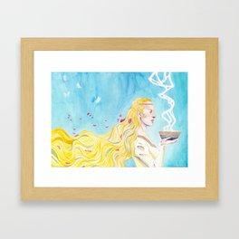 Lady Spring Framed Art Print
