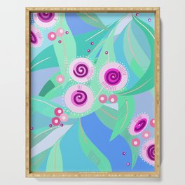Gum flowers digital painting Serving Tray