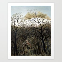 Henri Rousseau Rendezvous in the Forest Art Print