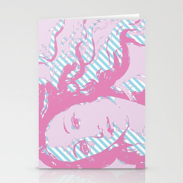 Rebirth of Venus - Pink & Cyan - Trans Pride! Stationery Cards