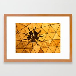 Yellow Delauney Framed Art Print