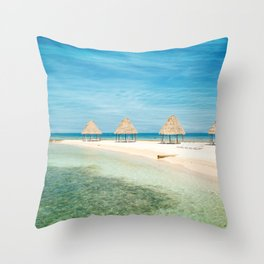 Waves and Clouds Throw Pillow
