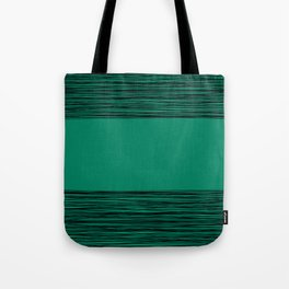 Black and green abstract pattern Tote Bag