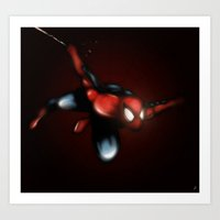 spider man Art Prints featuring Spider Man by Luis Pinto
