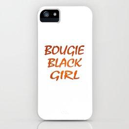 Bougie Black Girl iPhone Case
