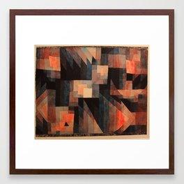 Paul Klee - Gradation, Red-Green (Vermillion) - 1921 Framed Art Print
