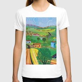 Santa Barbara Wine and Cheese (Square) T-shirt