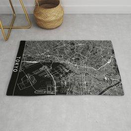 Tokyo Black Map Rug
