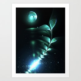 Alien Plant - Abstract Fractal Artwork Art Print