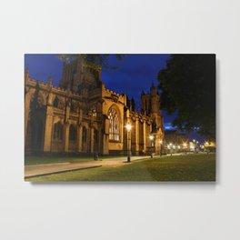 Bristol Cathedral at night Metal Print