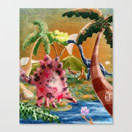 Happy dinos Canvas Print