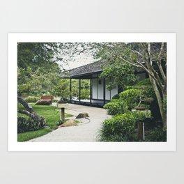 Japanese Garden House Art Print