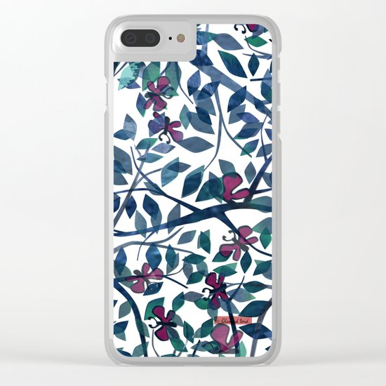 Butterflies in the Garden Clear iPhone Case