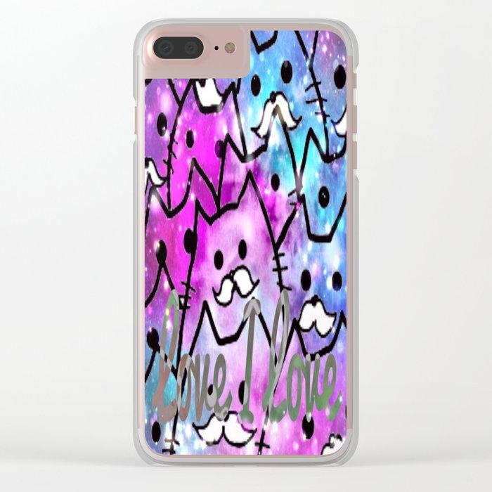 cat-217 Clear iPhone Case