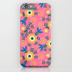 Folk Floral (pink) Slim Case iPhone 6s