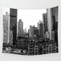 concrete Wall Tapestries featuring Concrete Jungle by thirteesiks