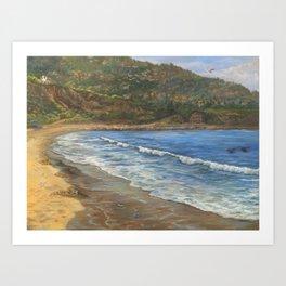 Torrance Beach to Palos Verdes Art Print