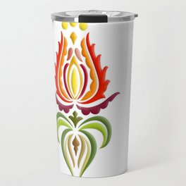 Fancy Mantle on White Travel Mug