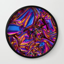 Holographic Plastic Wall Clock