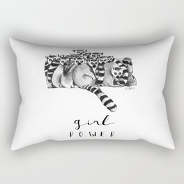 Girl power feminist animals Rectangular Pillow