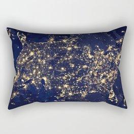 Gold map Rectangular Pillow