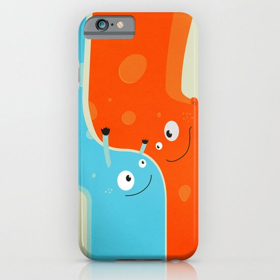 Hugging Cute Cartoon Characters iPhone & iPod Case