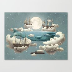 Ocean Meets Sky - colour option Canvas Print