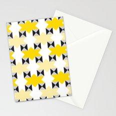 Yellow stars pattern Stationery Cards