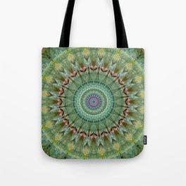 Mandala green malachite Tote Bag