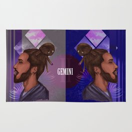 Gemini Zodiac Sign Rug