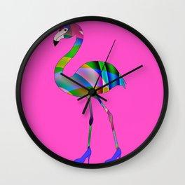 Chic Flamingo Wall Clock