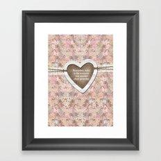 Homespun Framed Art Print