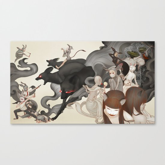 Internal Conflict Canvas Print