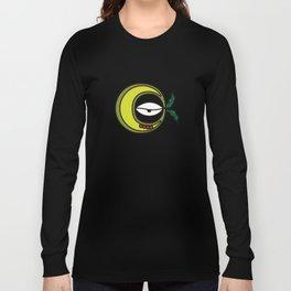 Moon Goddess with Coffee Leaf Eye-lash [Spa Ixchel] Long Sleeve T-shirt
